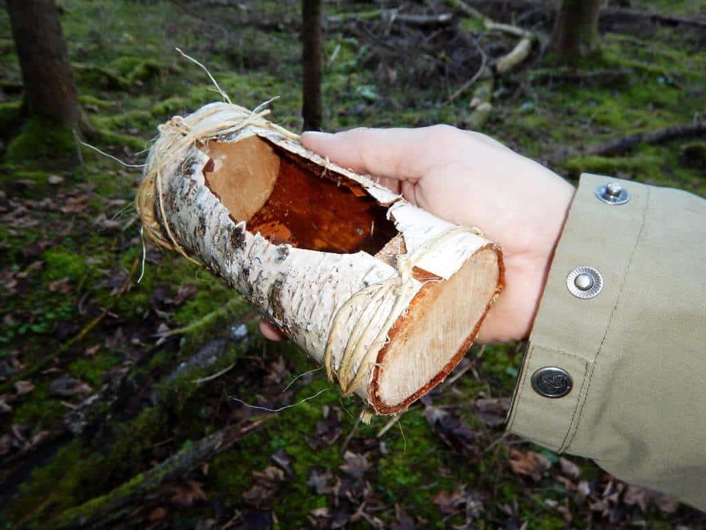 Birch bark container