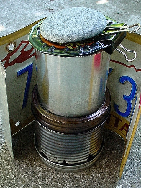 bushcraft homemade stove