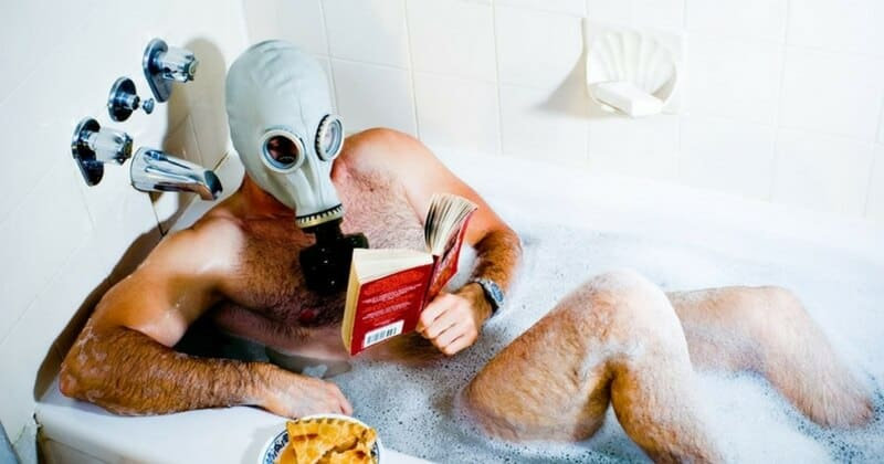 prepper in bath