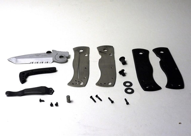 disassembled pocket knife