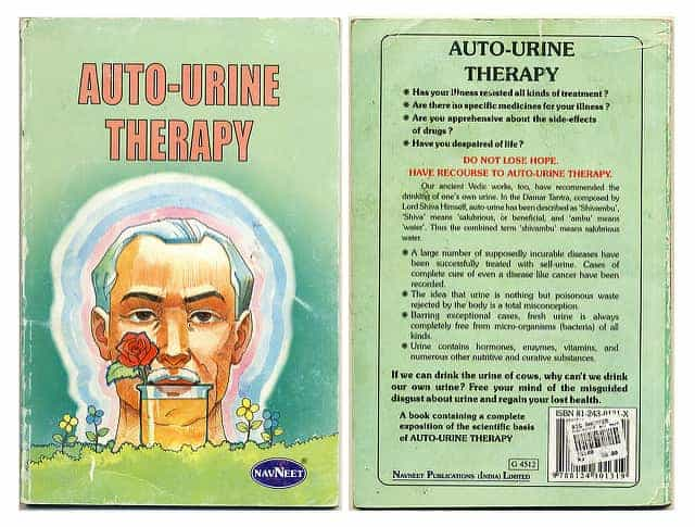 Book cover showing urine therapy
