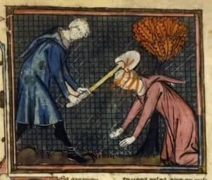 cain slaying abel with shovel