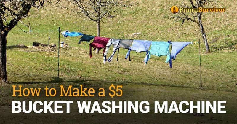 make bucket washing machine