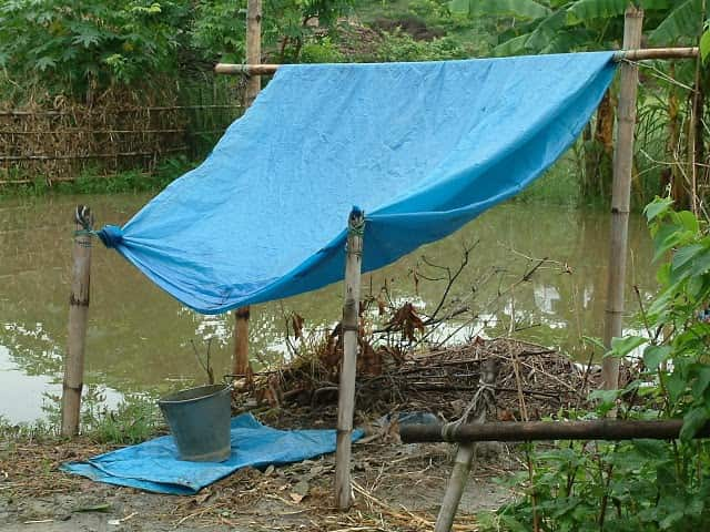 rainwater collection with tarp