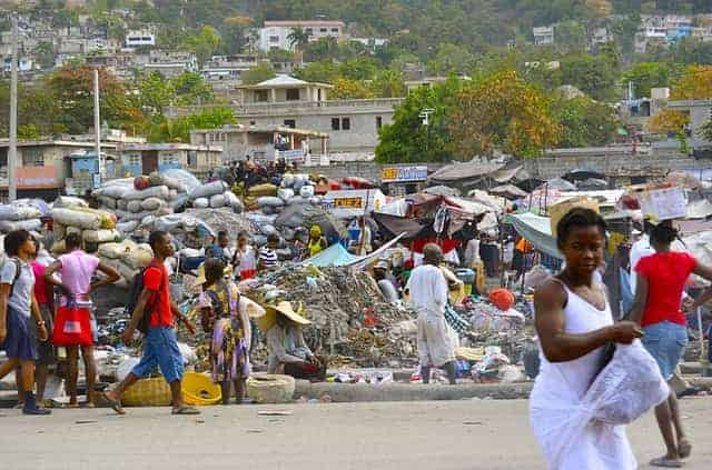 Aftermath of hurricane in Haiti