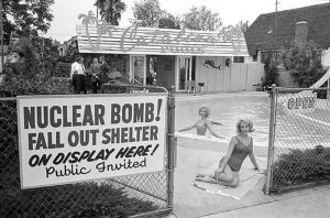 cold war poster - bomb shelter
