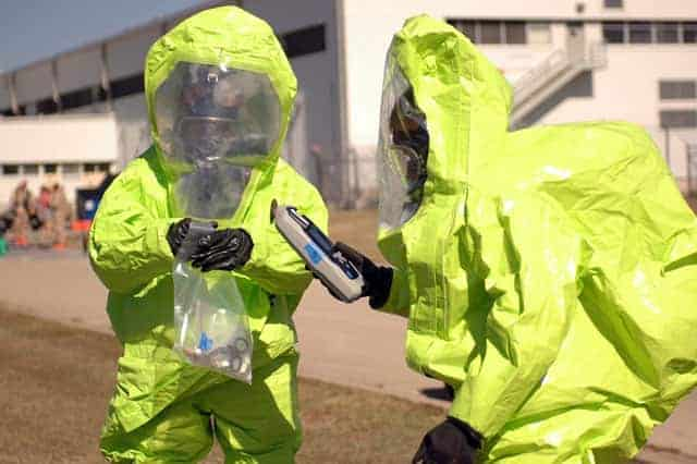 hazmat suit for nuclear survival