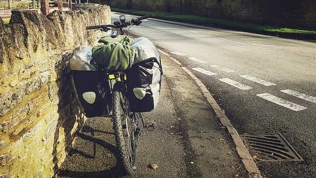 Survival tent on a bicycle