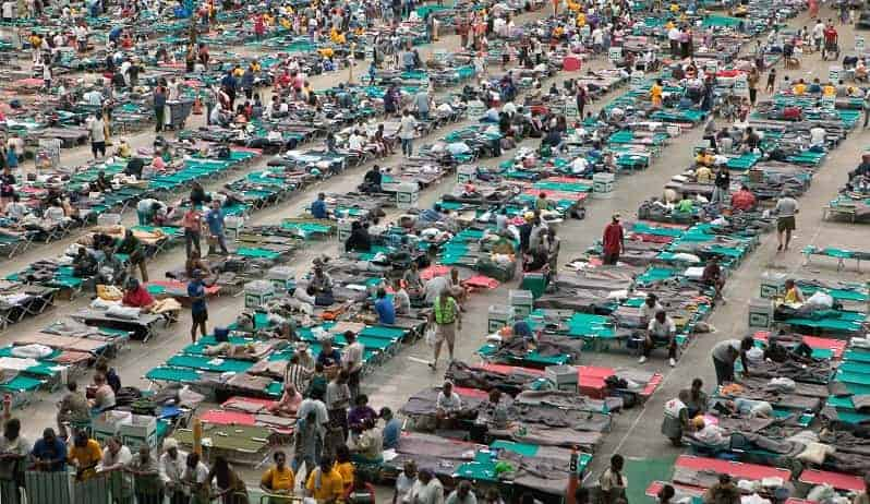 emergency beds after hurricane katrina