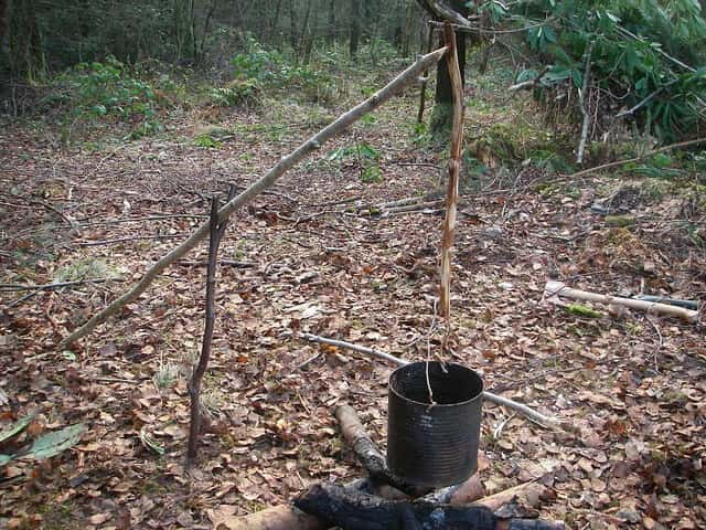 bushcraft cooking crane