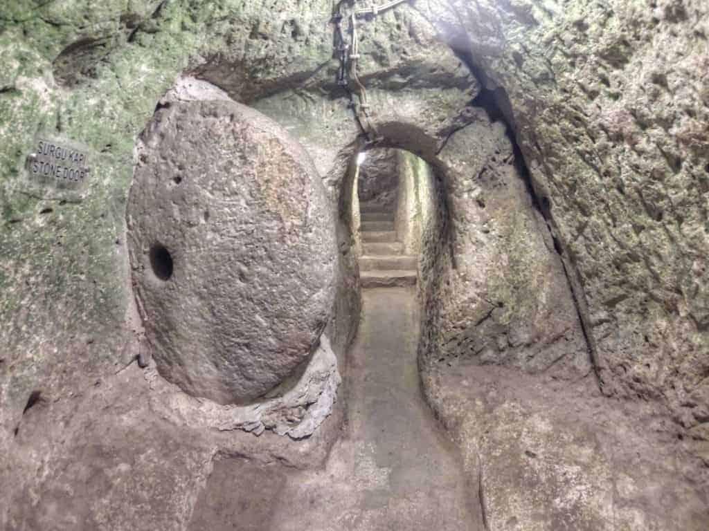 stone door at derinkuyu