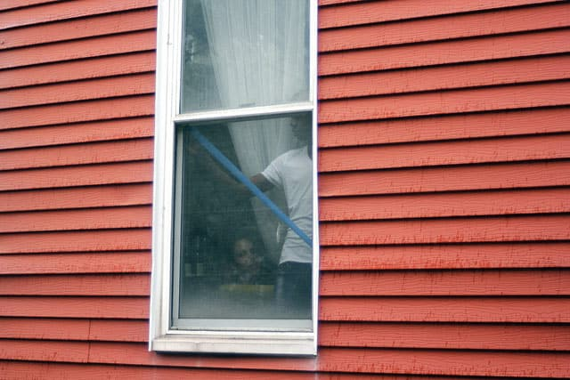 taping windows for hurricane