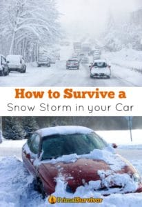 How to make a #Winter #Car #Emergency Kit for #survival during a #snow storm