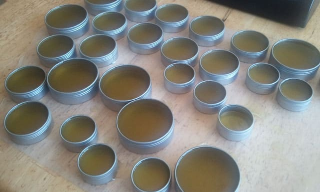 homemade salve from medicinal plants
