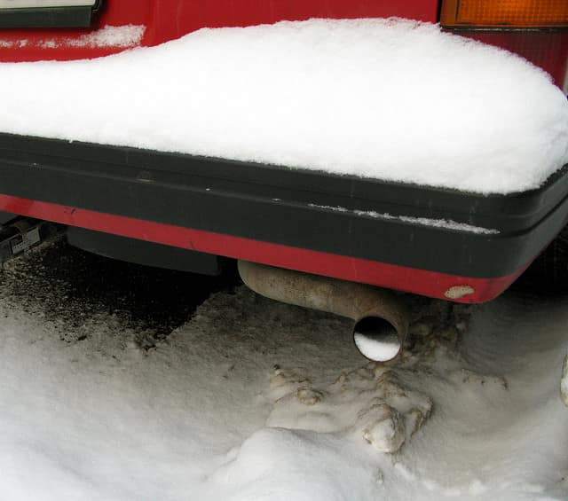 winter plugged tailpipe
