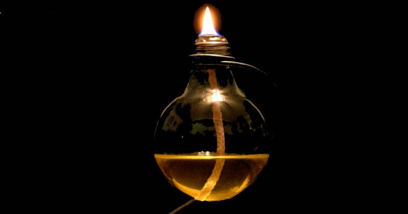 vegetable oil lamp