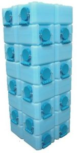 stacking WaterBrick containers
