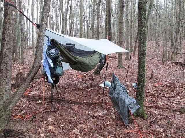 tarp setup for hammock camping