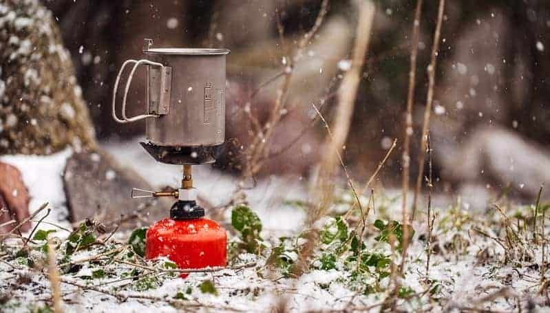 Boiling Water on Camping Stove