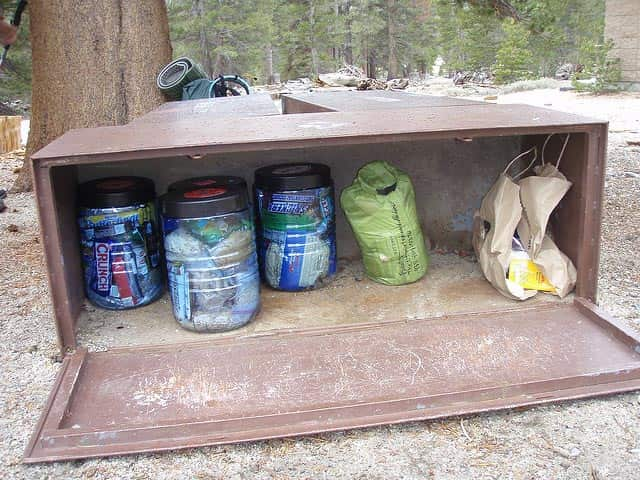 bear canisters on the PCT