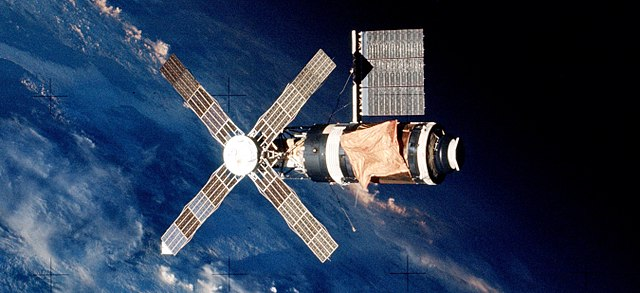 NASA Skylab with Mylar on it