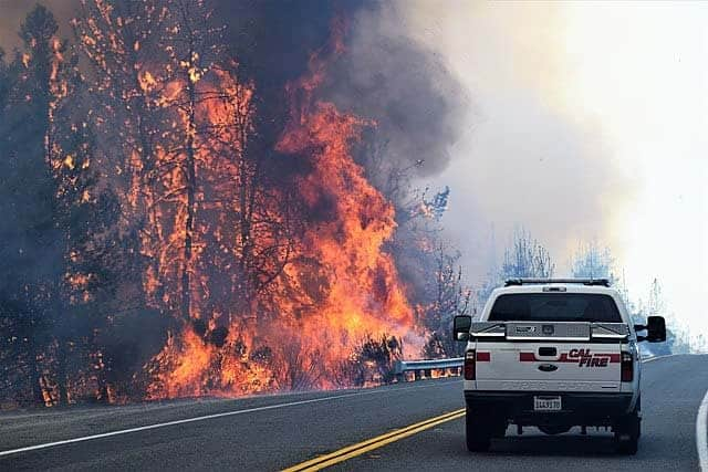 evacuating during a wildfire