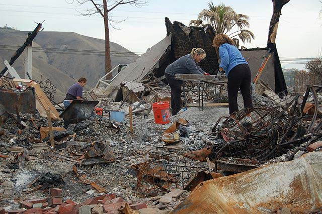 home destroyed by wildfire