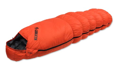 klymit 0F down sleeping bag