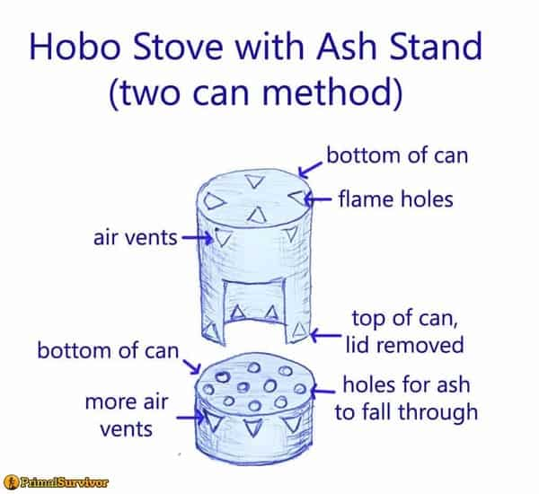 Two can ash stand method