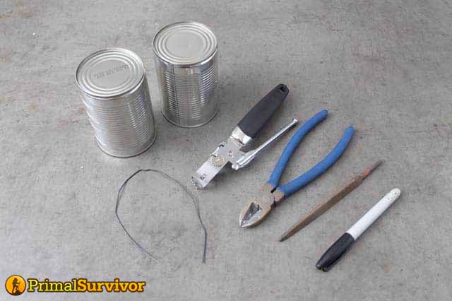 diy hobo stove supplies