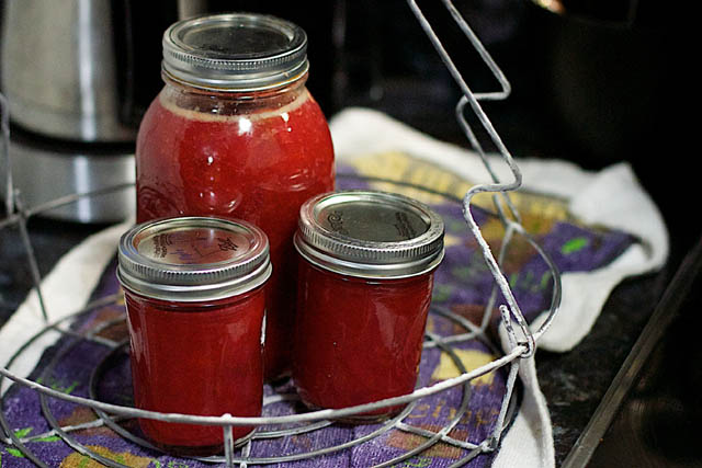 canning for preserving foods
