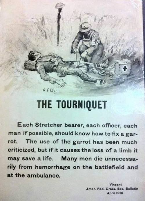 tourniquet poster from 1918