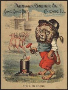 vintage canned food ad