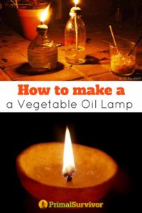 How To Make A Vegetable Oil Lamp With Pictures