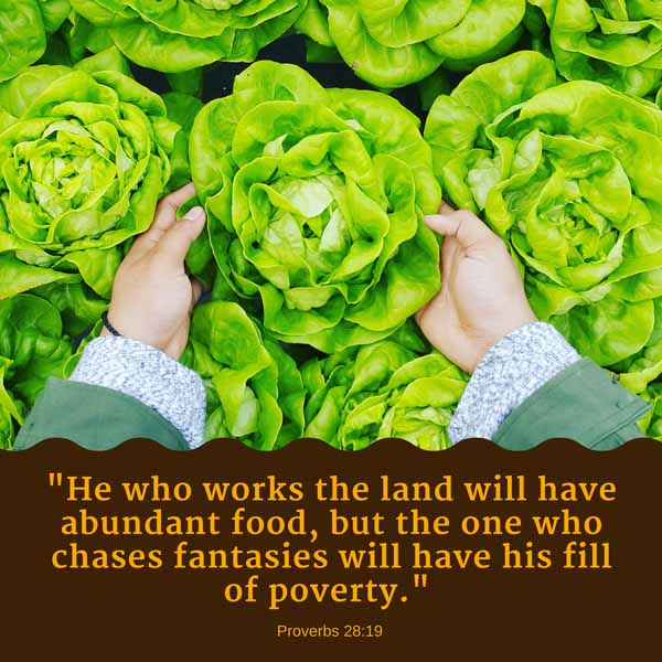 Proverbs 2819 Quote Graphic