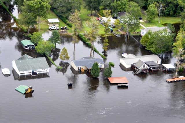 flood damage from hurricane