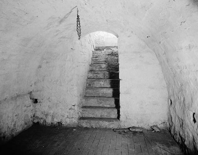 picture of the inside of a root cellar