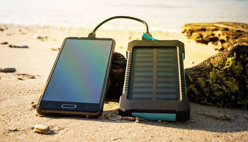 phone charging via solar charger