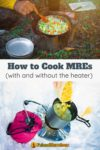 heating meals over camping stoves