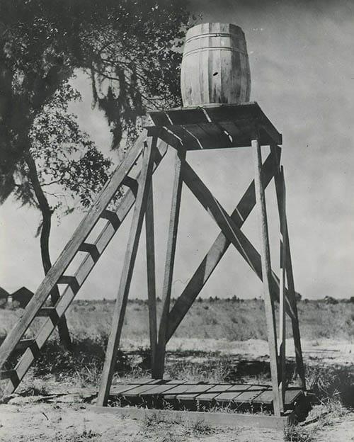 old gravity rainwater shower