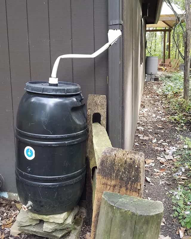 simple cheap rainwater harvesting picture
