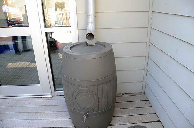rainwater harvesting without downspout diverter